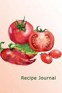 Recipe Journal Tomatoes Peppers in Watercolor Cooking Journal Lined Numbered Bla