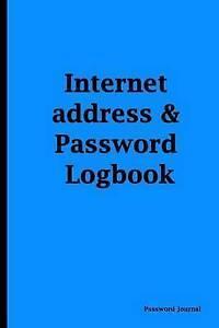 Password Journal Blue Cover Internet Address & Password Logbook by Password Jour