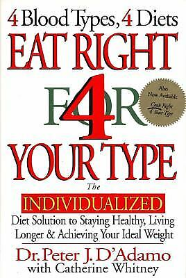 Eat Right For Your Type : The Individualized Diet Solution To Staying Healthy ,