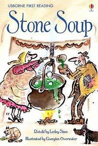 """""""VERY GOOD"""" Sims, Lesley, Stone Soup (First Reading) (Usborne First Reading), Bo"""