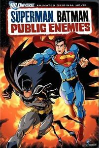 Superman Batman Public Enemies 2009 DVD Animation Action Movie Region 2 New