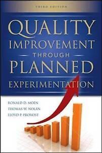 Quality Improvement Through Planned Experimentation 3/E, Moen, Ronald