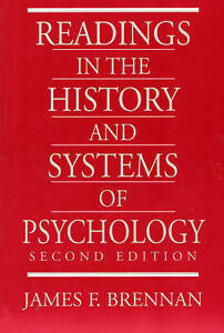 NEW Readings in the History and Systems of Psychology (2nd Edition)