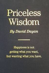Priceless Wisdom by Dayan, David -Hcover