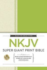 NKJV Super Giant Print Reference Bible by Thomas Nelson | Hardcover Book | 97805