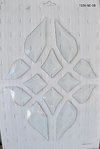 Bevels for stained glass