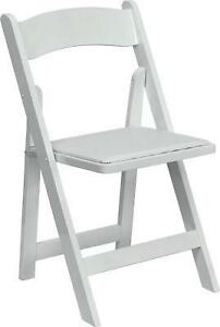 White Wood Folding Chairs