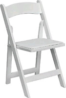 White Wooden folding Chairs For Sale