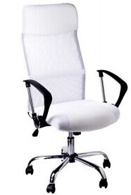 WHITE OFFICE SWIVEL CHAIR