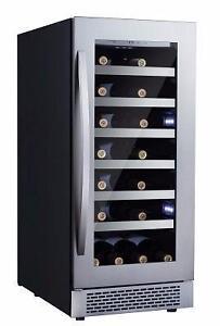 Petit cellier à vin 15'', capacité 27 bouteilles, en acier inoxydable, Avantgarde