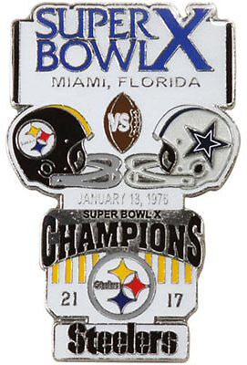 Super Bowl 10 X Pittsburgh Steelers Vs Dallas Cowboys Final Score Pin Large Psg