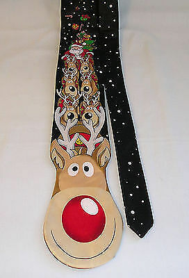 Rudolph, with your nose so bright, won't you adorn my tie tonight?