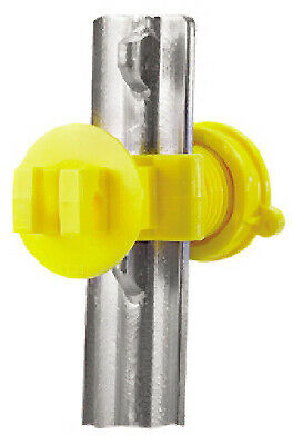 Electric Fence Insulator T-post Western Screw Tight Yellow