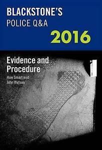 Blackstone's Police Q&A: Evidence and Procedure 2016 (Blackstone's Police Manua