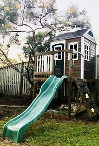 KIDS WOODEN CUBBY HOUSE SLIDE Morayfield Caboolture Area Preview