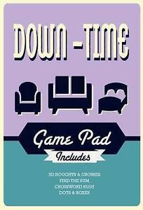 -Down-Time Game Pad  BOOK NEW