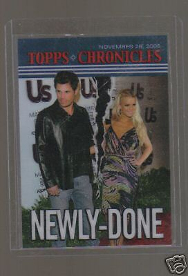 05 TOPPS CHRONICLES JESSICA SIMPSON NICK LACHEY CARD