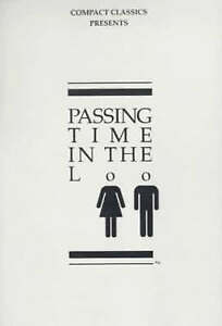 """""""AS NEW"""" Anderson, Steven W., Passing Time in the Loo Volume 1 Book"""