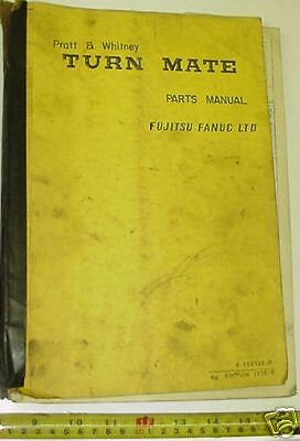 Pratt Whitney Cnc Lathe Turn Mate Turnmate Parts Manual 6th Edition B-90056e-p