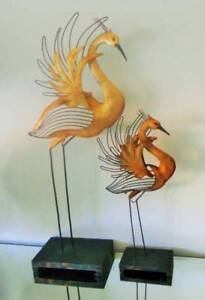 2 Gold Mother of Pearl Birds on Stands Southport Gold Coast City Preview