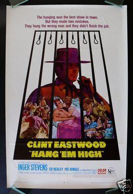 Hang Em High  1Sh Orig Movie Poster Clint Eastwood 1968