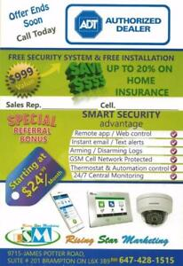 ADT Security Alarm SYSTEM / Camera INSTALLATION, 6 MONTH FREE, FREE INSTALL..call 647-428-1515