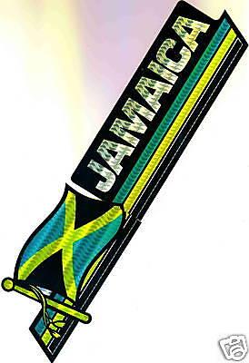 Jamaica Flag Bumper Sticker NEW
