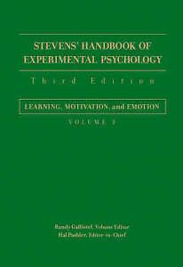 Stevens' Handbook of Experimental Psychology, Learning, Motivation, and Emotion