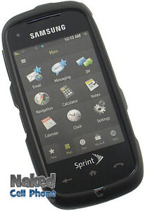 NEW-BLACK-RUBBERIZED-HARD-CASE-COVER-FOR-SPRINT-SAMSUNG-INSTINCT-HD-M850-s50