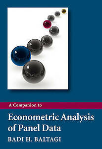 A Companion to Econometric Analysis of Panel Data, Baltagi, Badi H., Good, Paper