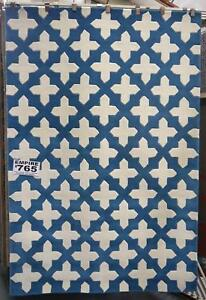New Plush Wool Aqua Blue Empire Geometric Design Rugs Melbourne CBD Melbourne City Preview