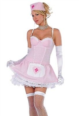 Seven Til' Midnight Costume Candy Stripper 10121 Pink/White Large](Stripper Costume)