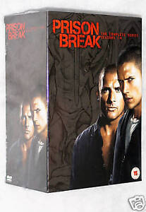 Prison Break Series Season 1,2,3,4 + Final Break - Complete 23 DVD Box Set - NEW