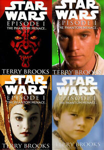 STAR WARS: THE PHANTOM MENACE by Terry Brooks ALL FOUR COVERS