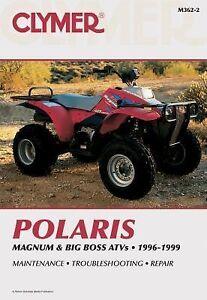 polaris 1996 1997 1998 1999 magnum big boss 425 500 6x6 4x4 repair manual m3622. Black Bedroom Furniture Sets. Home Design Ideas