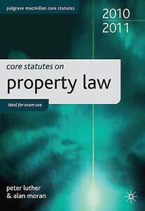 Core Statutes on Property Law 2010-11 (Palgrave Macmillan Core Statutes), Peter