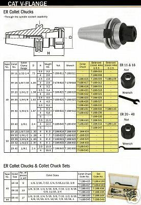 Bison Cat 40 Collet Chuck Er-16 Wrench Length 3