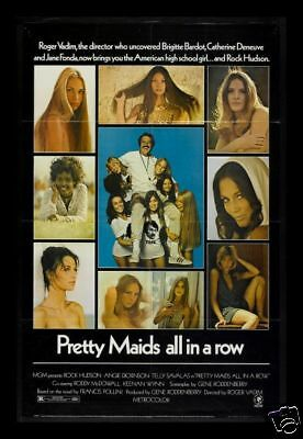 PRETTY MAIDS ALL IN A ROW * 1SH ORIG MOVIE POSTER