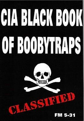 CIA Black Book Of Boobytraps - New! Pocket Sized Technical Field Manual
