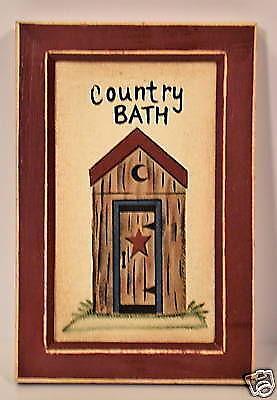 outhouse bath decor ebay. Black Bedroom Furniture Sets. Home Design Ideas