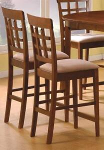 Rich Walnut Counter Height Dining Room Set Of 4 NEW