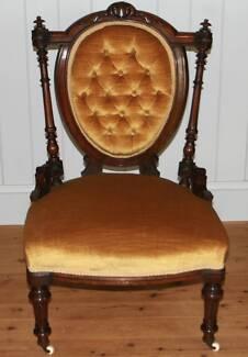 Original Victorian Nursing Chair Circa 1865