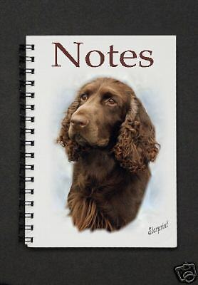 Field Spaniel Dog Notebook/Notepad with small image on every page By Starprint