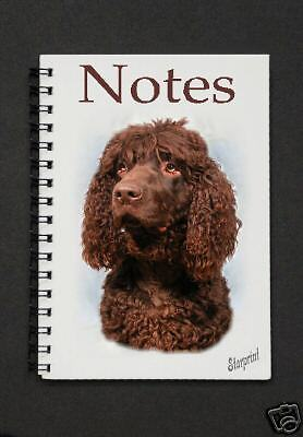 Irish Water Spaniel Dog Notebook/Notepad with a small image on every page