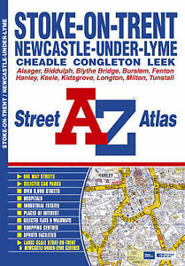 Stoke-on-Trent Street Atlas, Geographers A-Z Map Company, Very Good Book