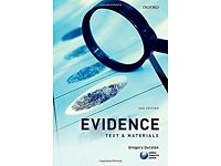 LAW BOOKS 2nd Edition, Gregory Durston, Evidence: Text & Materials