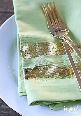 DIY Gold Foil Napkin via Inspired by Charm