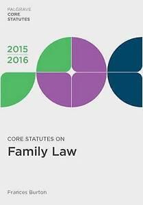 Core Statutes on Family Law 2015-16 (Palgrave Core Statutes), Very Good Conditio