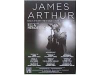 2 x james arthur tickets for glasgow