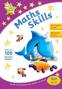 Learn Maths Skills Age 6-7 Activity Sticker Book New